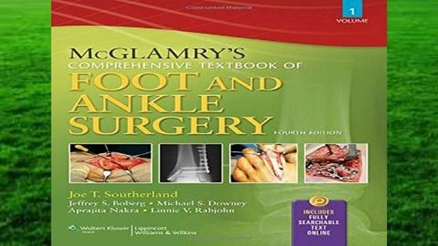 A New McGlamry's textbook is set to be released in May of this year